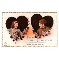 World War I Postcard: Romantic Post Card