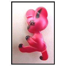 Delightful Hot Pink Plastic Bear Child's Pin