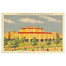 Postcard from New York World's Fair of 1939