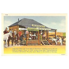 Judge Roy Bean Postcard