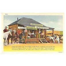 Judge Roy Bean Postcard