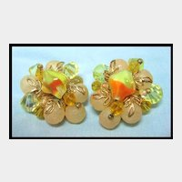 Yum Yum! Peach and Yellow Earrings