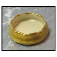 Gold Lenox Belleek Open Salt