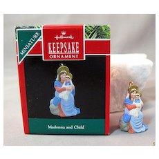 Madonna and Child Hallmark Keepsake Miniature Ornament 1990