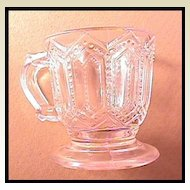 Early American Pattern Glass Child's Footed Mug Pressed Glass