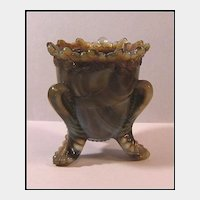 Degenhart Forget-Me-Not Toothpick Holder Lavender Marble Slag