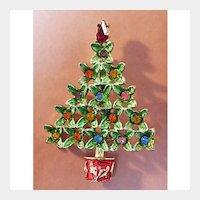 B.J. Beatrix Jewels Christmas Tree Pin with Enamel and Rhinestones