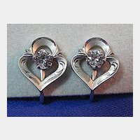 Petite Sterling Earrings with Rhinestone or CZ