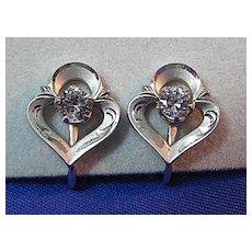 Petite Sterling Earrings with Rhinestone or CZ