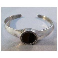 Sterling Cuff Bracelet with Tiger's Eye Stone