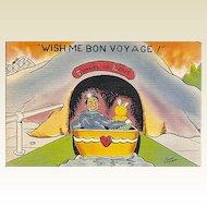 Humorous WW 2 Sailor Postcard by Eric Ericson