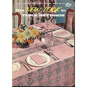 The New Look in Table Settings, Coats & Clark's Crochet Instruction Booklet