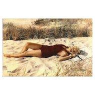 Lovely Bathing Beauty Postcard