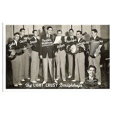 Advertising Postcard The Light Crust Doughboys from the Burrus Mills
