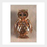 Solid Perfume Owl Pin Brooch by Vanda