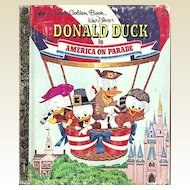 Donald Duck in America on Parade - Little Golden Book Second Edition