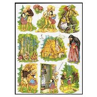 Vintage Hansel and Gretal Die Cuts