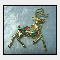 Lovely Large Reindeer Pin
