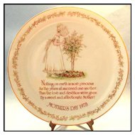 Holly Hobbie Mother's Day Plate 1978