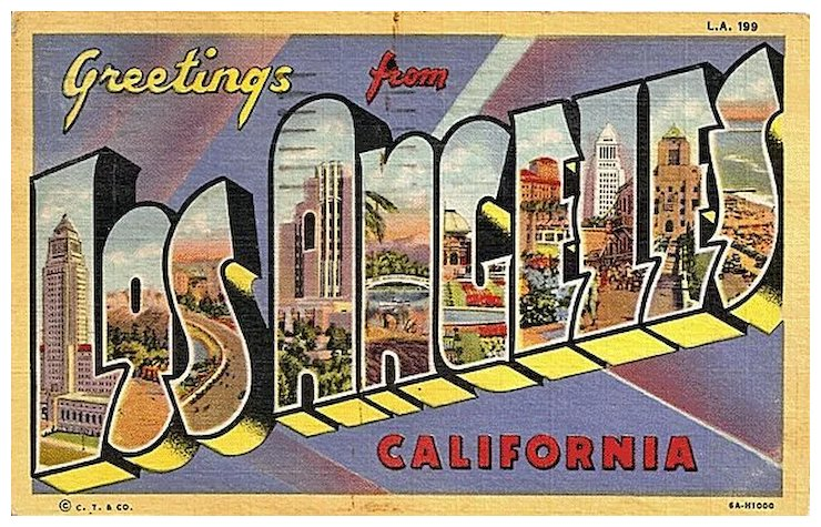 Big letter greetings from los angeles california postcard antique big letter greetings from los angeles california postcard m4hsunfo