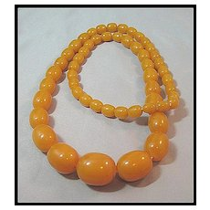Gorgeous Butterscotch Beads Bakelite Necklace