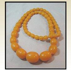 Gorgeous Butterscotch Beads Bakelite Necklace