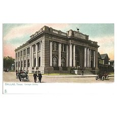 Carnegie Library in Dallas Texas Tuck Postcard - Undivided Back