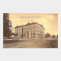 Postcard of the Woodmen Building, Rock Island, Illinois