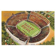 Postcard of the Sugar Bowl, Tulane Stadium, New Orleans, Louisiana