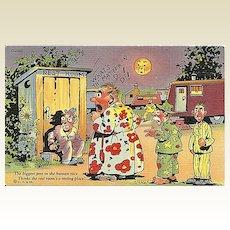 Comical Postcard of Outhouse Humor