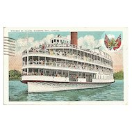 Postcard of Steamer St. Claire Windsor Ontario Canada