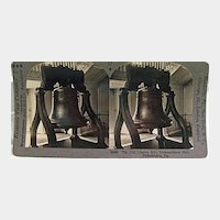 Keystone Stereo View of The Old Liberty Bell at Independence Hall Philadelphia Pennsylvania