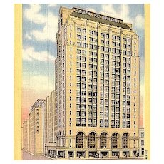 Postcard of the Santa Fe Building in Dallas Texas