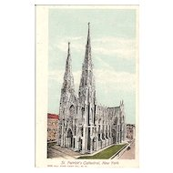 Postcard of St. Patrick's Cathedral, New York City - Undivided Back