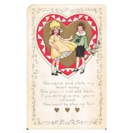 Whitney Valentine Postcard Undivided Back