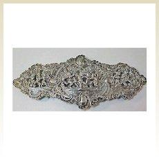 Hallmarked Silver Buckle with Many Cherubs