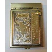 Texas Miniature Metal Flip Top Style Address Book