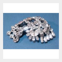 Bold and Beautiful Dimensional Rhinestone Pin - Excellent Quality