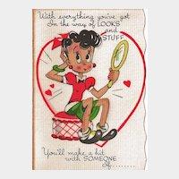 Vintage Unused Store Stock Valentine - Not So Sweet