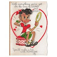 Vintage Unused Store Stock Valentine - Not So Sweet