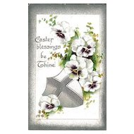 Easter Postcard with Beautiful Pansies