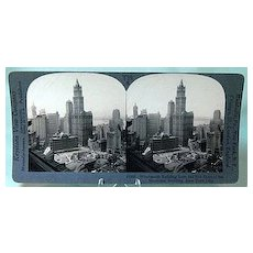 Keystone Stereo View of the Woolworth Building New York City