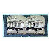 Keystone Stereo View of Lincoln Memorial, Washington DC
