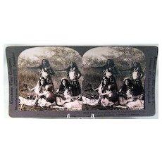 Keystone Stereo View of Native Hula Girls near Honolulu, Territory of Hawaii
