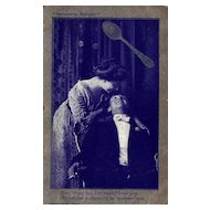 Spooners Delight Silver and Blue Postcard