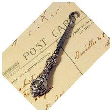 Button Hook Glove Hook Sterling Silver