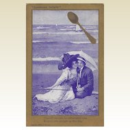 Spooners Delight Postcard -  Couple on Beach