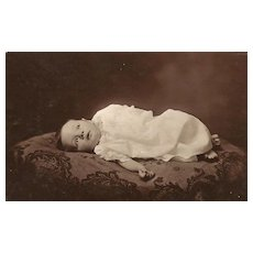 Real Photo Postcard of Baby - Birth Announcement