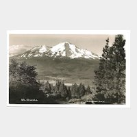Real Photo Postcard of Mt. Shasta by J. H. Eastman