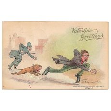 Valentine Greetings Postcard by R. F. Outcault with Undivided Back
